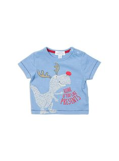 This roaring cute baby boys tee is featured in our small Christmas range however this can be worn all season. Let''s be honest what little boy doesn''t like presents!