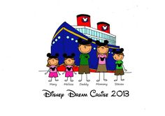 Custom Disney Family Shirt Design, 3 to 8 people. with background.. $19.00, via Etsy.