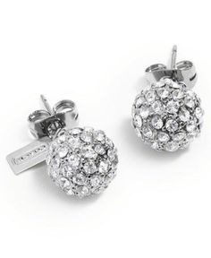 COACH HOLIDAY PAVE STUD EARRINGS - COACH - Handbags & Accessories - Macy's