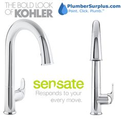 The award-winning Sensate touchless faucet frees your hands so you can speed through prep, cooking and cleanup without spreading messes and germs throughout the kitchen.Pin to enter the Sensate Giveaway from PlumberSurplus.com!