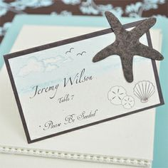 Please be Seeded' Starfish Plantable Seed place cards (Set of 12) - NewlyWish