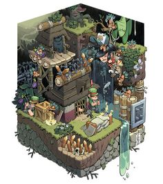 <3 game worlds with isometric views ⊟ As someone who grew up...