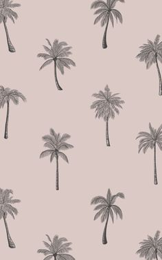We've designed the Aloha wallpaper to add a touch of paradise to a room. The minimalist repeat pattern of palm trees is illustrated in a pencil sketch style with lots of little details that give the design a mature, sophisticated feel. The simple background colour is a soft dusty pink tone that pairs well with rose gold decor, along with warm wooden furniture and other metallic accents. Tropical Wallpaper, Pink Wallpaper, Flower Wallpaper, Pattern Wallpaper, World Map Wallpaper, Forest Wallpaper, Rose Gold Decor, Pink Home Decor, Dusty Rose