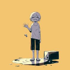 Are you going to smile until the end? But why smile when you need help. Você vai sorrir até o final? Mas por que sorrir quando precisar de ajuda Dark Art Illustrations, Illustration Art, Sad Anime, Anime Art, Manga Art, Sun Projects, Art Mignon, Anime Triste, Dark Drawings