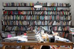 """Artist Simon Starling shares his #artbookshelfie reassuring us he """"always seem able to find the ones that matter."""""""