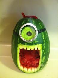 Birthday watermelon for despicable me