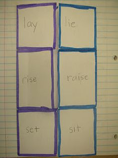 Verb Foldable - confusing uses. Maybe use instd for through, tough, thought, though and Wh/we words my ESL kids struggle with.