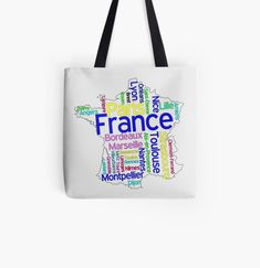 Millions of unique designs by independent artists. Find your thing. Limoges France, France Map, Cotton Tote Bags, Artists, Unique, Map Of France, Artist