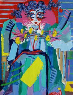 La magicienne - 116 x 89 cm - Huile sur toile