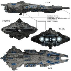 huge space cruiser allied 3d obj - Allied Fleets Heavy Battle Cruiser by skynet3020