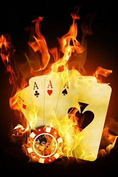 Flame Abstract Art | poker, full, aces, flame, Art |