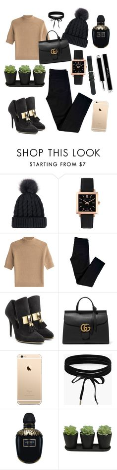 """""""Untitled #61"""" by adell-hatting ❤ liked on Polyvore featuring Larsson & Jennings, Theory, J Brand, Balmain, Gucci, Boohoo, Alexander McQueen and M&Co"""