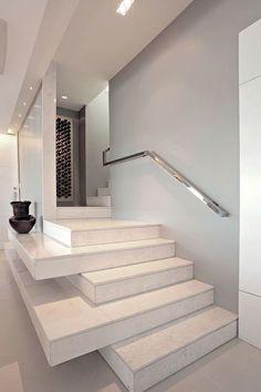 Corrimano e ringhiere per scale interne dal design moderno n.04