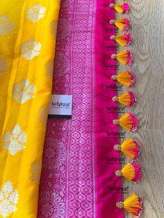Latest Saree Kuchu/Tassel Designs to Beautify Your Saree - Indian Fashion Ideas Saree Kuchu New Designs, Saree Tassels Designs, Saree Blouse Neck Designs, Simple Blouse Designs, Blouse Patterns, Hand Embroidery Designs, Hand Designs, Just For You, Crochet