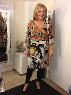 Loretta Schrijver wears Aysha dress, see how great she looks! www.tessakoops.com