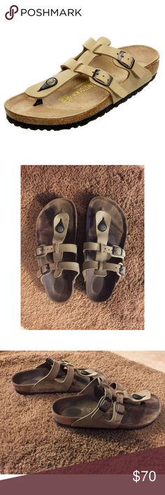 Vintage Birkenstock Sparta Sandal Slip Ons These Sparta Birkenstock Thong style Slip on sandals have two adjustable straps over the foot. Molded heel cup for balance. Naturally designed arch support.  Birkenstock sandals make a great addition to any outfit.   • Fast shipping! Same day/ Next morning depending on when purchased.  • Bundled discounts 👍🏼 Birkenstock Shoes Sandals