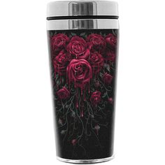 BLOOD ROSE Thermo Travel Mug Flask by Spiral Direct ($17) ❤ liked on Polyvore featuring home, kitchen & dining and drinks