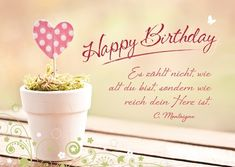 Postkarte - Happy Birthday (reiches Herz)