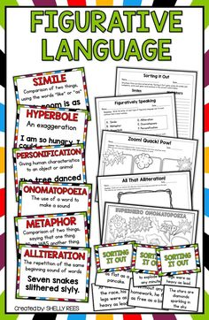 3 Worksheet Vocabulary Worksheets Fifth Grade 5 Similes Metaphors Figurative Language Simile Metaphor Alliteration 5th Grade Worksheets, Vocabulary Worksheets, Printable Worksheets, Figurative Language Activity, Similes And Metaphors, Alliteration, 4th Grade Reading, Teaching Writing, Teaching Resources