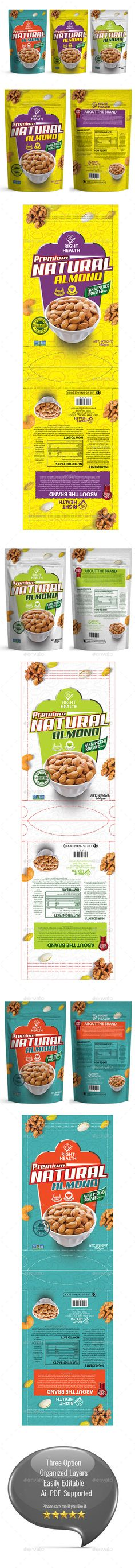 Dry Fruits Packaging Template Vol 001 - #Packaging Print #Templates Download here: https://graphicriver.net/item/dry-fruits-packaging-template-vol-001/19189417?ref=alena994