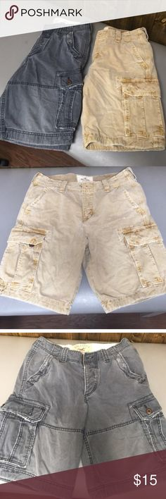 Hollister boys shorts only gray pair left Boys hollister cargo shorts Hollister Shorts Cargos