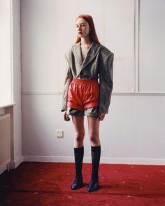LOOK1 Blazer playsuit and shorts for @vogueitalia ❤️  Shot by @lolapaprocka @pani_paul , Art direction @briankanagaki , Styled by @w_barnes_ , Hair @nicolekahlani , Makeup @daniellekahlani