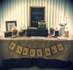 80th birthday decorations with a vintage look. See more decorating and party ideas at one-stop-party-ideas.com.
