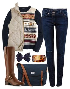 """""""Untitled #11"""" by hayleydanielle96 ❤ liked on Polyvore featuring J.Crew, Moon and Lola, Pull&Bear, Sandqvist and Bandolino"""