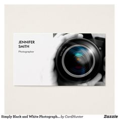 Simply Black and White Photographer Camera Lens Business Cards. This great business card design is available for customization. All text style, colors, sizes can be modified to fit your needs. Just click the image to learn more! Square Business Cards, Unique Business Cards, Business Card Design, Photographer Business Cards, Photography Business, Photographer Logo, All You Need Is, Visiting Card Design, Camera Lens