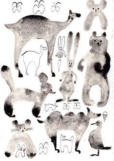 記憶のモンプチ Animal Drawings, Cool Drawings, Japan Illustration, Animal 2, Best Artist, Textiles, Cute Art, Painting & Drawing, Art For Kids