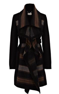 Blanket stripe coat - Karen Millen UK