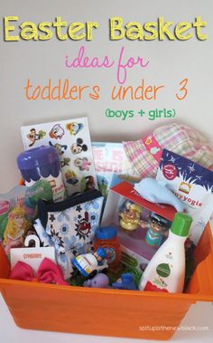 Easter basket ideas for toddlers under age 3 (boys & girls)