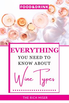 Everything you need to know about Wine Types. Different wine types and how to pick on for your meal! Popular wine types and everything you need to know!#richmiser #wine #recipes #foodandrink #luxurylifestyle #summer Wine Types, Different Types Of Wine, Gourmet Dinner Recipes, Wine Recipes, Easy Cocktails, Cocktail Recipes, Blue Fruits, Sparkling Wine, Non Alcoholic Drinks