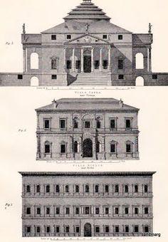 1897 Villa Capra, Guilia and Palazzo Farnese.