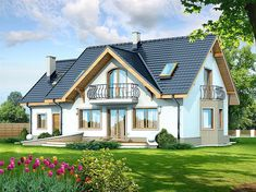Contemporary Two Storey Home Idea 4 Country House Plans, Dream House Plans, Small House Plans, My Dream Home, Classic House Design, House Construction Plan, Micro House, Storey Homes, House Stairs