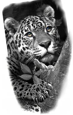 Tiger Tattoo, Lion Tattoo, Cat Tattoo, Leopard Tattoos, Animal Tattoos, Aztec Tattoo Designs, Arte Nerd, Cool Chest Tattoos, Mythology Tattoos