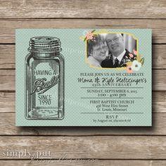 Mason Jar Birthday Anniversary Photo by SimplyPutPrintables