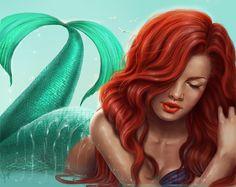 Ariel, The Little Mermaid, Disney Princess, Disney Fan Art Disney Fan Art, Disney Love, Disney Magic, Ariel Mermaid, Ariel The Little Mermaid, Mermaid Disney, Ariel Ariel, Mermaid Mermaid, Vintage Mermaid