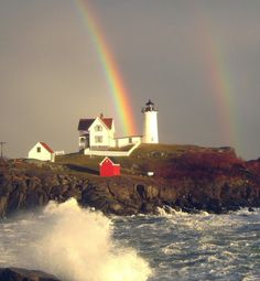 Nubble Lighthouse, Maine, USA. Love this place.