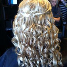Prom hair I did:)