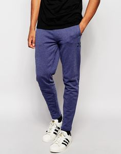 """Joggers by Selected Homme Soft-touch sweat Drawstring waistband Side slant pockets Patch back pocket Skinny fit - cut closely to the body Machine wash 100% Cotton Our model wears a size Medium and is 185.5cm/6'1"""" tall"""