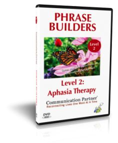 Phrase Builders - Aphasia Therapy  Home Therapy Videos by Kimerly Robins. SLP Pinned by SOS Inc. Resources. Follow all our boards at  http://pinterest.com/sostherapy  for therapy resources