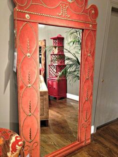 This mirror should greet guests at the front door.  Even if your foyer is small, this makes a huge impact.