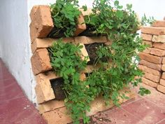 Bricks Vertical Garden Design Ideas