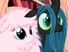 This is fluffle puff and crisalis reaction to baby mine