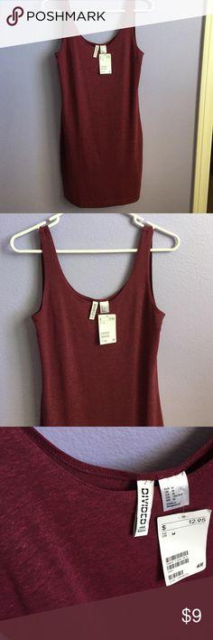 Cute maroon short tight dress Maroon H&M short tight fun dress casual H&M Dresses Mini
