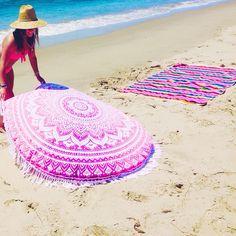 I have this thing with pink!  Shop our handmade mandalas at www.purplebeetle.com.ph  #mandala #tapestry #roundie #roundmandala #boho #bohemian #freespirit #gypsy #hippie #boholiving