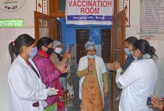 indilivenews: India administered one million COVID-19 vaccine do...
