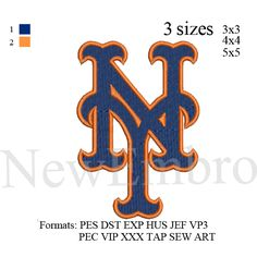 New York mets logo, NY mets logo , embroidery design embroidery pattern No…