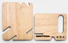 Ver ojo y cartera Docking Station para iPhone 6s Plus madera